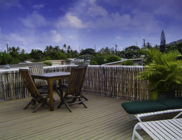 Deck at Peters Place in Kailua, Oahu